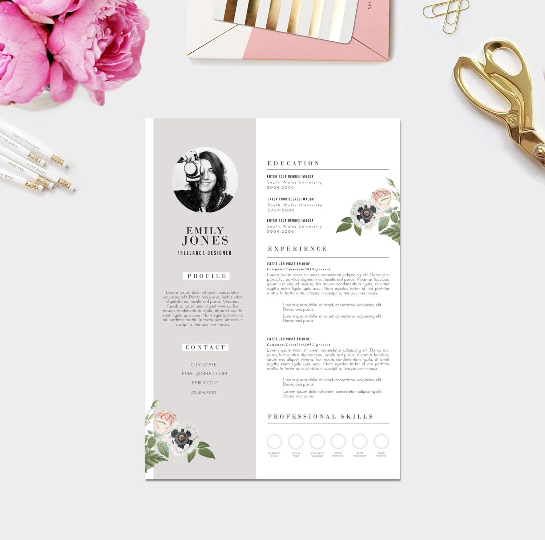 creative resume photo    custom cv template custom cover