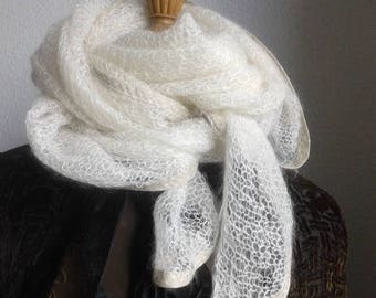 """Scarf """"Snowflake""""from """"La Droguerie"""" triangular shape"""