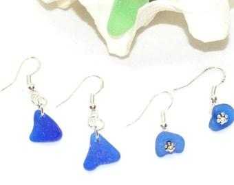 Mothers Day Jewelry, Sea Glass Earrings, Blue Glass Earrings, Earrings For Mom, Beach Glass Jewelry, Sea Glass Gift, Sea Glass Jewelry