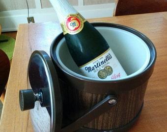 Vintage Faux Bois Ice Bucket