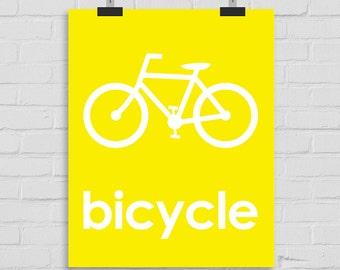 Bicycle Art Print, Bike Art, Nursery Art, Baby Room Art, Kids Wall Art, Playroom Art, Childrens Art, Modern Nursery Print, Babys Room