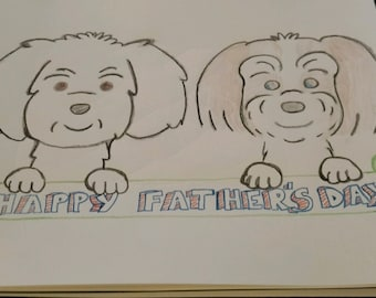 Fathers Day Lhasa Apso