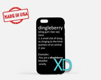 Dingleberry iPhone Case, Funny iPhone Case, Dirty Insult iPhone 8 Case, iPhone 6s Case, iPhone 7 Case, Phone Case, iPhone X Case, SE Case