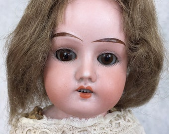 Antique Armand Marseille Mabel doll, German bisque head doll, cabinet sized doll