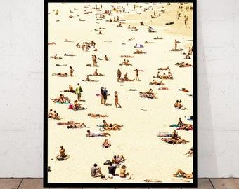 Beach Print, Beach Art, Beach People Print, Beach Decor, Photography Print, Tropical Print, Summer Print, Beach Photography, Beach Wall Art