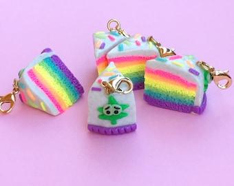 Glow in the Dark Rainbow cake charm gift set