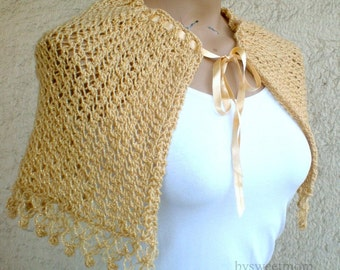 Champagne Wedding Stole Bolero Shrug
