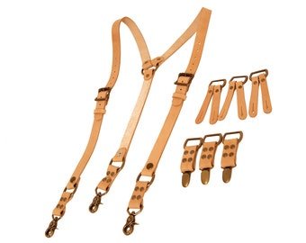 Deluxe Heavyweight Suspenders with versatile ends