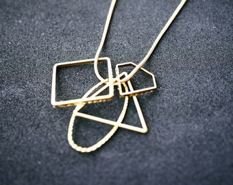 Geometrical shapes necklace