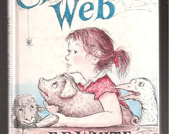 Charlotte's Web Book Vintage Childrens Book E B White Pictures by Garth Williams Harper Row Hardcover