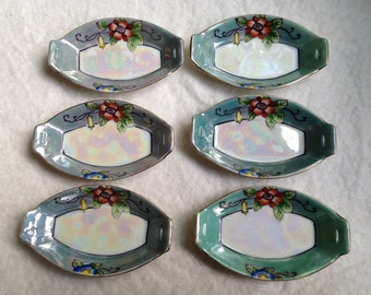 6 Piece Noritake Nut/Candy Dishes