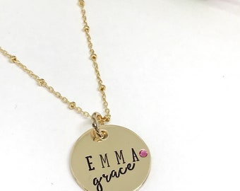 Mother's Day GIft - Personalized Mom's Necklace - Birthstone Jewelry - Mother's Jewelry - Name Necklace - Birthstone Necklace - Gift for Mom