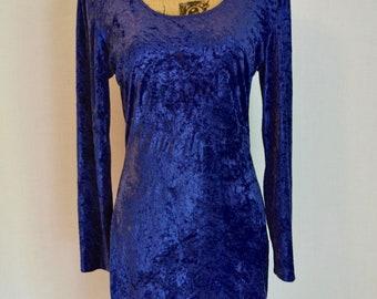 Vibrant Velvet - Purple Party Dress