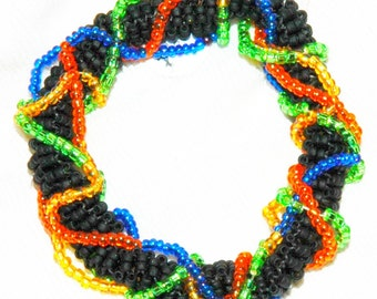 colorful Peyote stitch bracelet