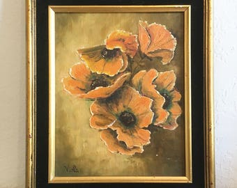 1970s California Poppies Painting