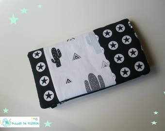 """cactus and Star"" checkbook wallet"