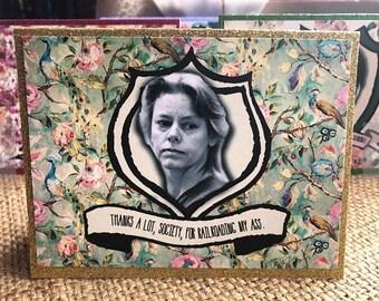 Aileen Wuornos note card blank