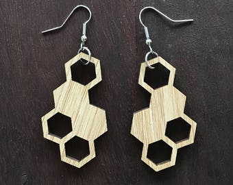 BEE NICE - bee hive shaped earrings