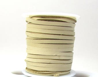 Deerskin Leather Cord, 3mm Natural Leather Deerskin Cord, 50 Feet Natural Deerskin Lace, Natural Leather Cord, Item 1582c