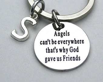 "Stainless Steel "" Angels Can't Be Everywhere That's Why God Gave Us Friends"" , Friend Gift , Bestfriends , University Student , Graduation"