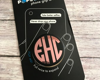 Rose Gold Monogram Decal | Popsocket Decal | Pop Socket Monogram | Monogram Decal | Vinyl Decal | Lilly Pulitzer Decal | Phone Stand Decal