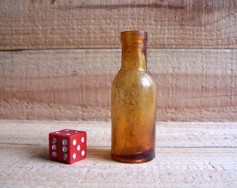 Old Small Glass Bottle for Medicine Laboratory use. Home Photo Decor. Brown Glass bottle. b2