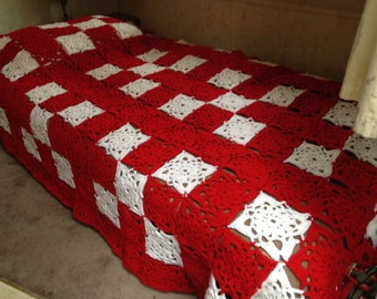 King sized crocheted blanket