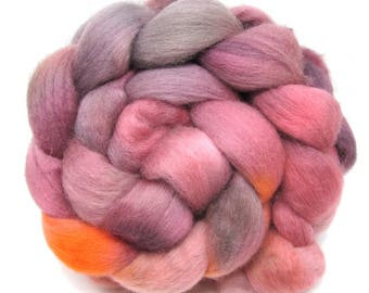 Hand Dyed Corriedale Combed Wool Top 100g 3.5oz CD07
