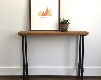 """The """"Frye"""" Console Table - Reclaimed Wood & Pipe Console Table - Reclaimed Wood Console Table"""