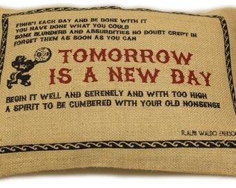 "Jute Pillow Cover 38 x 25 cm ""Tomorrow"""