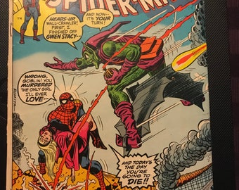 AMAZING SPIDERMAN #122 death of the green goblin