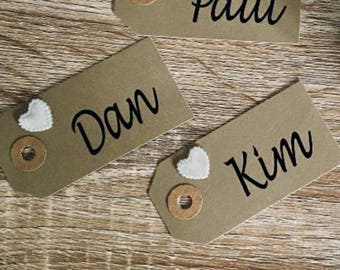 Place card vinyls/decals/stickers DIY