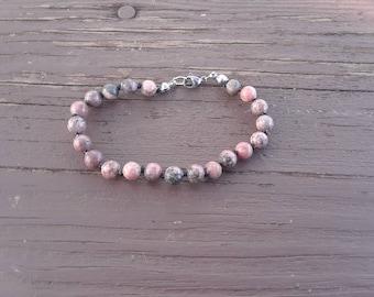 Rhodonite - Rhodonite bracelet