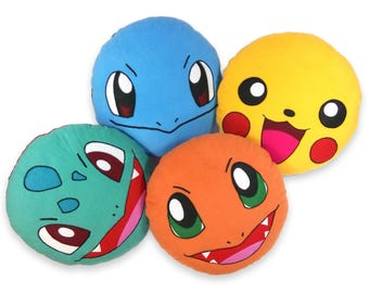 Pokemon pillow | Squirtle | Bulbasaur | Charmander | Pikachu | Pokeball - SoftDecor