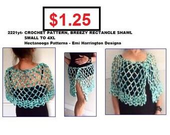 crochet shawl pattern, beach cover, beach skirt, crochet patterns, Small to 4XL plus size, #2221yt, crochet for summer, cape, women and teen