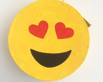 Heart Eyes Emoji Pinata - Valentines Day Pinata - Emoji Party Game