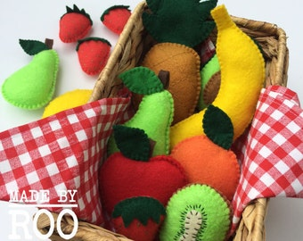 Felt Fruit and Vegetable Magnets