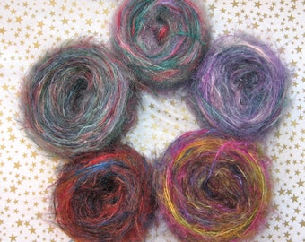 Multicolored Mohair Yarn 50 Grams
