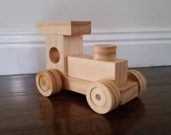 Thunder - Wooden Toy Train - Paint yourself -OR- Organic Finish
