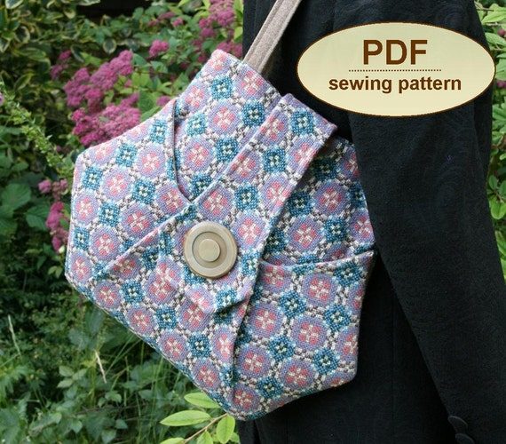 Sewing pattern to make the Kitchen Garden Bag - PDF pattern INSTANT DOWNLOAD