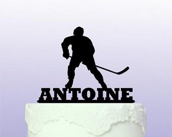 Personalised Ice Hockey Cake Topper