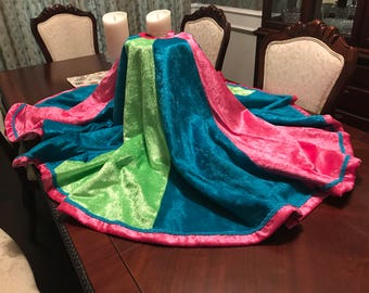 The Whimsey Velour Christmas Tree Skirt - 68 inches