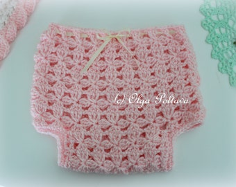Flower Clusters Diaper Cover Crochet Pattern, Baby Diaper Cover 0-3 Months, Easy Crochet Pattern
