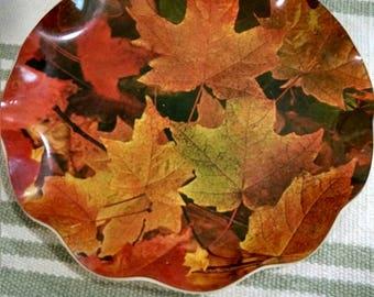Fab Tray Wonderful Fall Maple Leaf