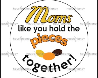 """Moms Thank You """"Pieces"""" -Themed Tag"""
