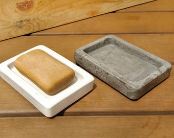 "Soap Dish 5"", Sponge Holder, Soap Holder, Soap Display, Soap Tray, Soap Plate, Washing Sponge Holder, Concrete Soap Dish"