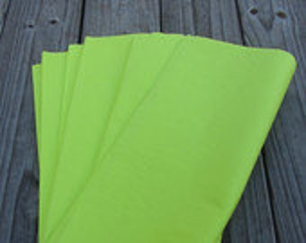 "Tissue Paper / 24 Sheets Neon Yellow Tissue Paper 20""x30"""