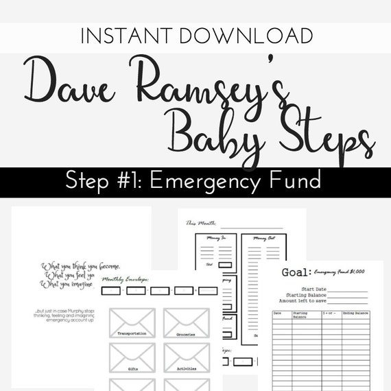 DAVE RAMSEY Printable Budget Planning Instant Download