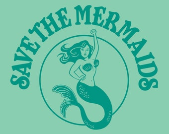 "8"" x 10"" Save the Mermaids Print"