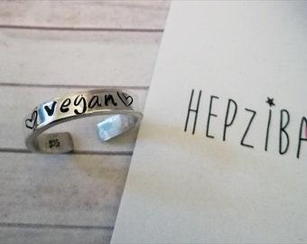 Hand Stamped *!!*Vegan*!!* 925 Sterling Silver Toe Ring - EASILY PERSONALISED!